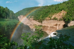 Middle Falls,Letchworth State Park by Andreas F. Borchert Courtesy of Wikimedia Commons