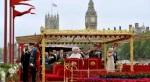 HM Queen Elizabeth 11  on the Royal Barge